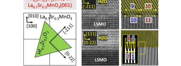 Domain matching epitaxy of ferroelectric Hf0.5Zr0.5O2(111) on La2/3Sr1/3MnO3(001)